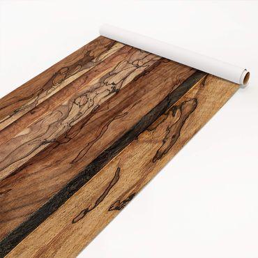 Klebefolie Holzoptik - Holzwand Flamed - Dekorfolie Holz