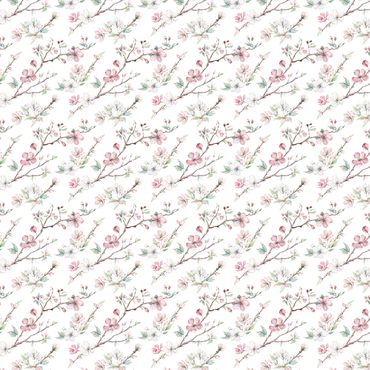 Klebefolie - Kirschblütenzweige Aquarell