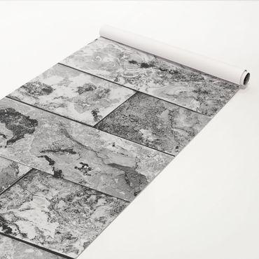 Klebefolie Marmoroptik - Steinwand Naturmarmor grau - Marmorfolie
