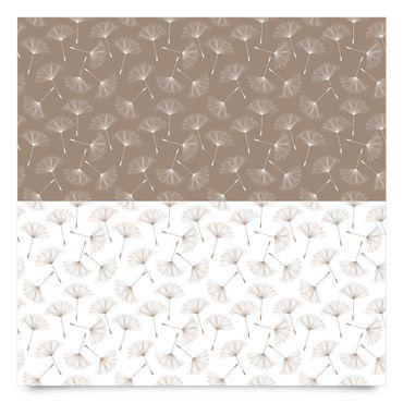 Klebefolie Pusteblume - Pusteblumenmuster in Mocca und Polarweiss - Dekorfolie