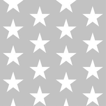 Klebefolie - Weiße Sterne auf Grau - Bastelfolie selbstklebend