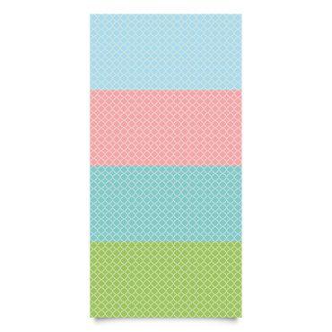 Klebefolien Set - Marokko Mosaik Vierpassmuster in 4 Farben - Dekofolie