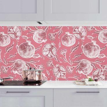 Küchenrückwand - Kupferstich Granatäpfel