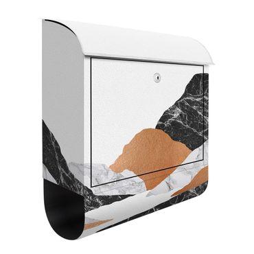 Briefkasten - Landschaft in Marmor und Kupfer II
