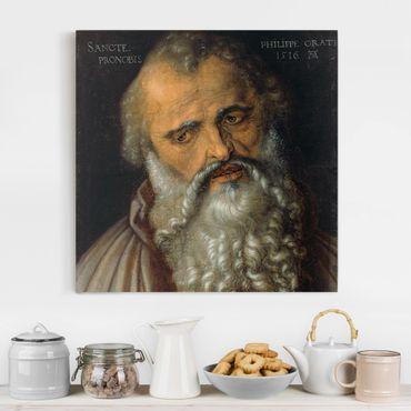 Leinwandbild - Albrecht Dürer - Der Apostel Philippus - Quadrat 1:1