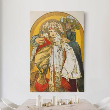 Leinwandbild - Alfons Mucha - Plakat zum zehnten Jahrestag des Bestehens der Tschechoslowakischen Republik - Hoch 2:3