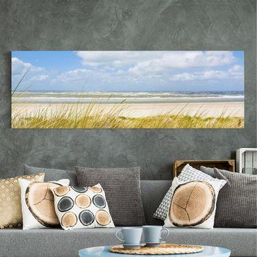 Leinwandbild - An der Nordseeküste - Panorama Quer