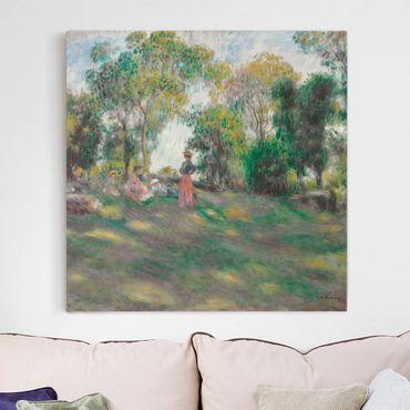 Leinwandbild - Auguste Renoir - Landschaft mit Figuren - Quadrat 1:1