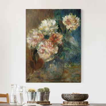 Leinwandbild - Auguste Renoir - Vase mit Pfingstrosen - Hoch 3:4