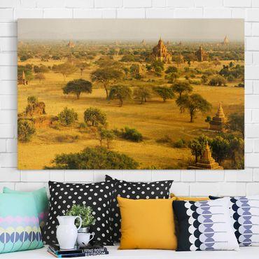 Leinwandbild - Bagan in Myanmar - Quer 3:2