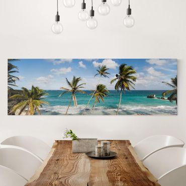 Leinwandbild - Beach of Barbados - Panorama Quer