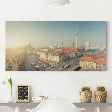 Leinwandbild - Berlin am Morgen - Quer 2:1