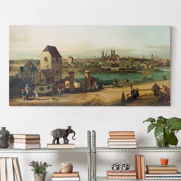 Leinwandbild - Bernardo Bellotto - München, von Haidhausen aus gesehen - Quer 2:1