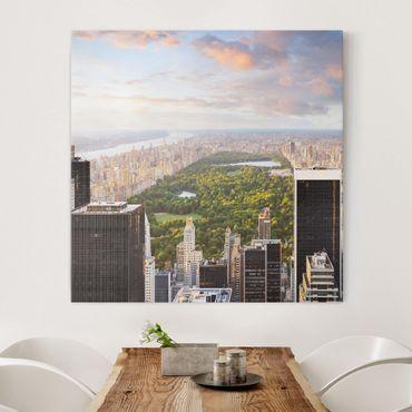Leinwandbild - Blick über den Central Park - Quadrat 1:1