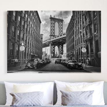 Leinwandbild - Manhattan Bridge in America - Quer 3:2