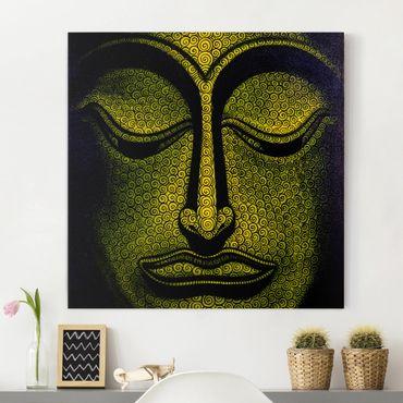 Leinwandbild - Buddha in Laos - Quadrat 1:1