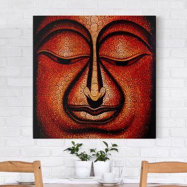 Leinwandbild - Buddha in Tibet - Quadrat 1:1
