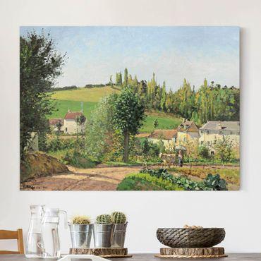 Leinwandbild - Camille Pissarro - Kleines Dorf nahe Pontoise - Quer 4:3