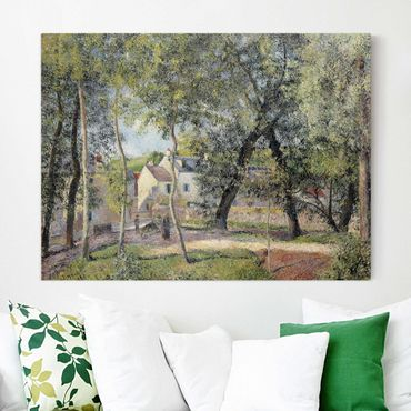 Leinwandbild - Camille Pissarro - Landschaft bei Osny in der Nähe einer Tränke - Quer 4:3