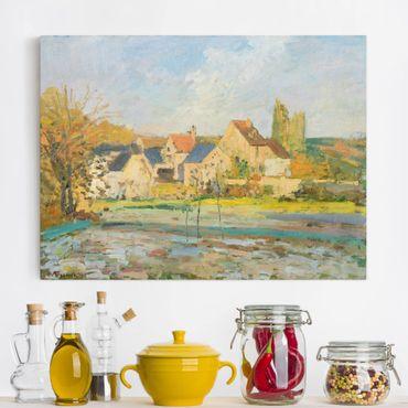Leinwandbild - Camille Pissarro - Landschaft bei Pontoise - Quer 4:3