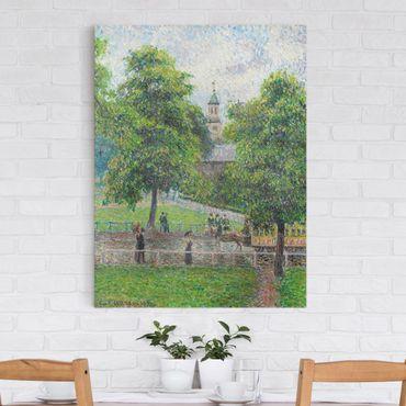 Leinwandbild - Camille Pissarro - Saint Anne's Church, Kew, London - Hoch 3:4