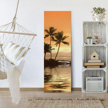 Leinwandbild - Caribbean Sunset I - Panorama Hoch