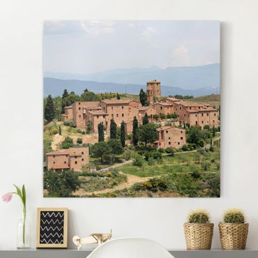 Leinwandbild - Charming Tuscany - Quadrat 1:1