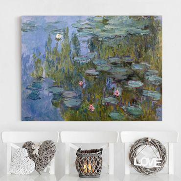 Leinwanddruck Claude Monet - Gemälde Seerosen (Nympheas) - Kunstdruck Quer 4:3 - Impressionismus