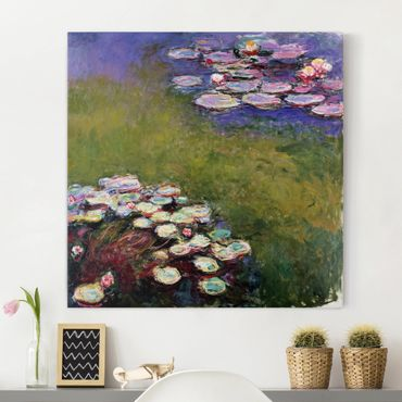 Leinwanddruck Claude Monet - Gemälde Seerosen - Kunstdruck Quadrat 1:1 - Impressionismus