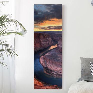 Leinwandbild - Colorado River Glen Canyon - Panorama Hoch