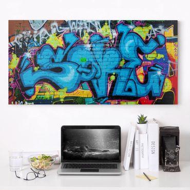 Leinwandbild - Colours of Graffiti - Quer 2:1