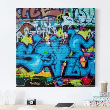 Leinwandbild - Colours of Graffiti - Quadrat 1:1