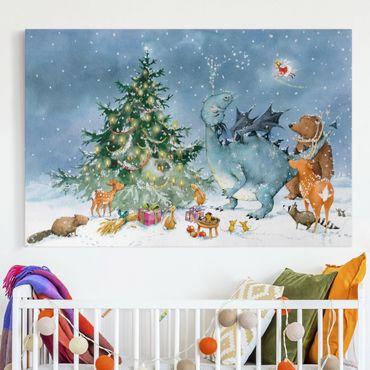 Leinwandbild - Wassili Waschbär - Das Weihnachtsfest - Quer 3:2