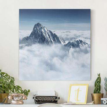 Leinwandbild - Die Alpen über den Wolken - Quadrat 1:1