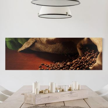 Leinwandbild - Dulcet Coffee - Panorama Quer