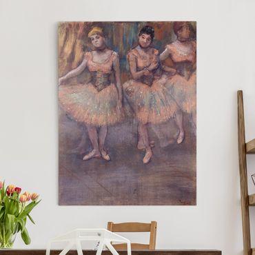 Leinwandbild - Edgar Degas - Drei Tänzerinnen vor dem Exercice - Hoch 3:4