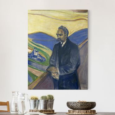 Leinwandbild - Edvard Munch - Porträt von Friedrich Nietzsche - Hoch 3:4