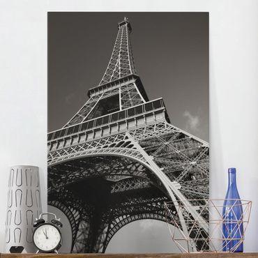 Leinwandbild - Eiffelturm - Hoch 2:3