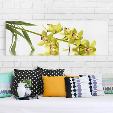 Leinwandbild - Elegant Orchid Waters - Panorama Quer