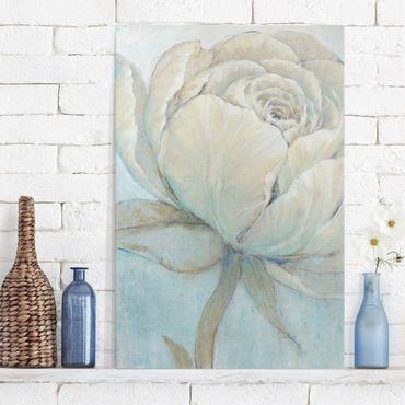 Leinwandbild - Englische Rose Pastell - Hochformat 3:2