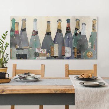Leinwandbild - Entkorkt - Champagner - Querformat 1:2