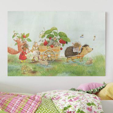 Leinwandbild - Erdbeerinchen Erdbeerfee - Mit Igel - Querformat 3:2
