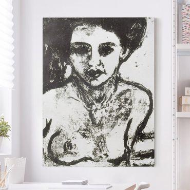 Leinwandbild Schwarz-Weiß - Ernst Ludwig Kirchner - Artistenkind - Hoch 3:4
