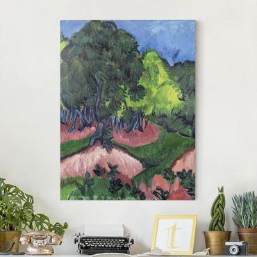 Leinwandbild - Ernst Ludwig Kirchner - Landschaft mit Kastanienbaum - Hoch 3:4