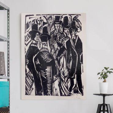Leinwandbild - Ernst Ludwig Kirchner - Straßenszene - Hoch 3:4
