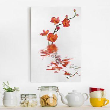 Leinwandbild - Flamy Orchid Waters - Hoch 2:3