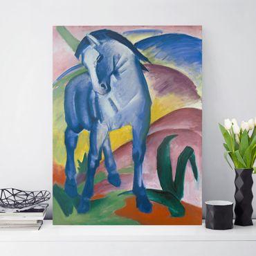 Leinwandbild Franz Marc - Gemälde Blaues Pferd I - Hoch 3:4