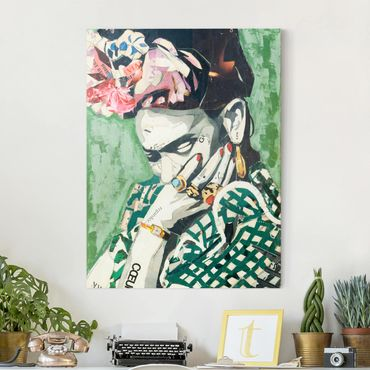 Leinwandbild - Frida Kahlo - Collage No.3 - Hochformat 3:4