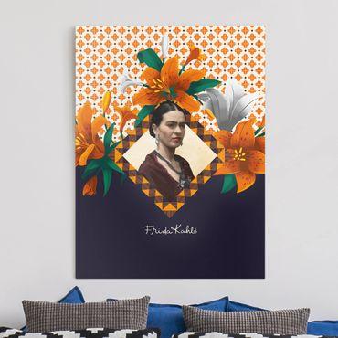Leinwandbild - Frida Kahlo - Lilien - Hochformat 3:4