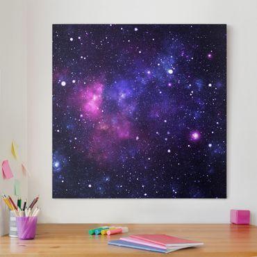 Leinwandbild - Galaxie - Quadrat 1:1